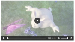 "A still from the film ""Big Buck Bunny"", showing the new Firefox video controls overlaid on top"