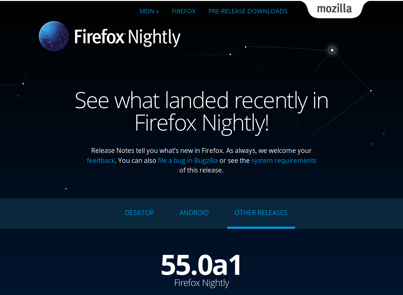 Release Notes for Nightly – Firefox Nightly News