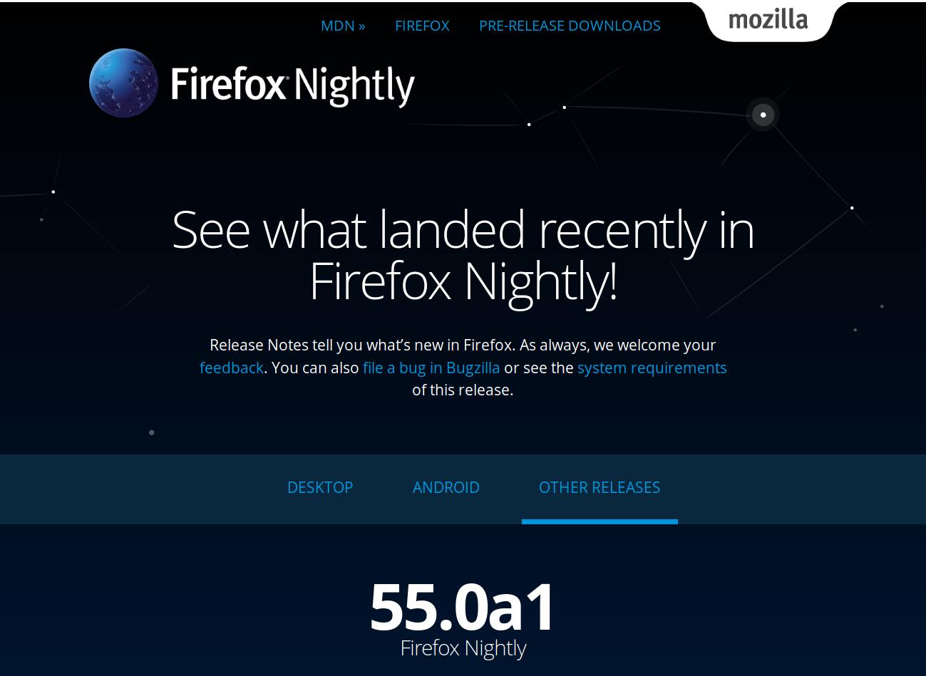 firefox nightly en francais