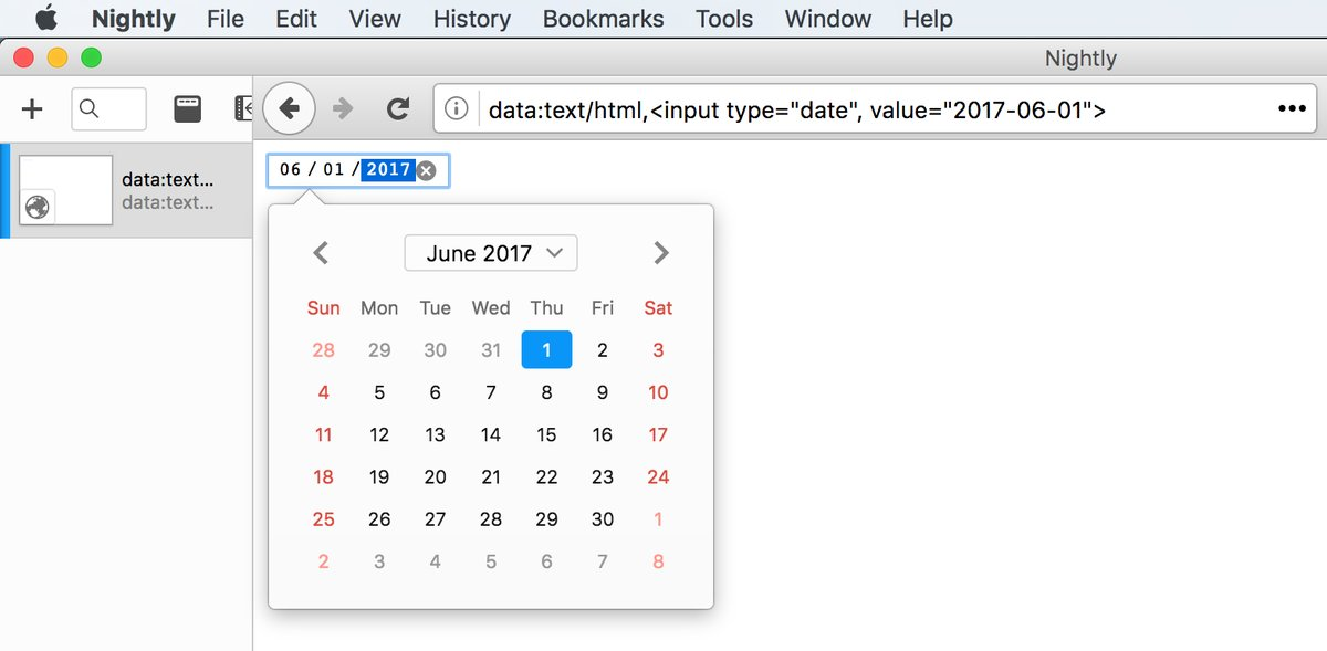 The new Firefox datetime picker panel