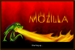 Mozilla Suite nightly start screen