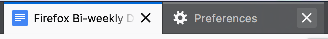 Tab close icons