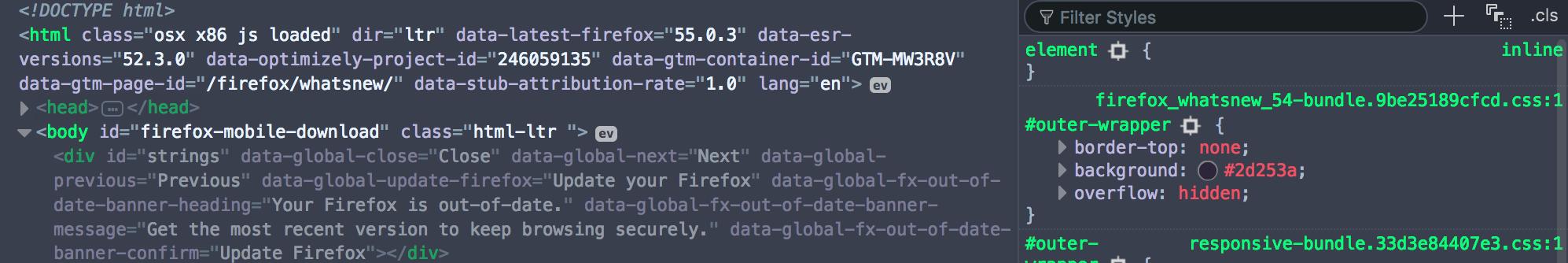 Old HTML/CSS (dark)