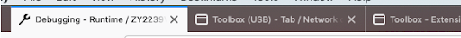 Screenshot of wrench and window favicons for debugging and toolbox